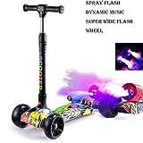DUBAOBAO Kinder Spray Auto kühlen Roller Faltbare Flash Wheel Baby Roller, USB-Aufladung, langlebig und kompakt, 4 Farben,B