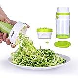 Sedhoom Spiralschneider Hand für Gemüseschneider Zwei Klingen Schneider mit großem Behälter für Karotte/Gurken/Kartoffel (2-Klingen Spiralschneider)