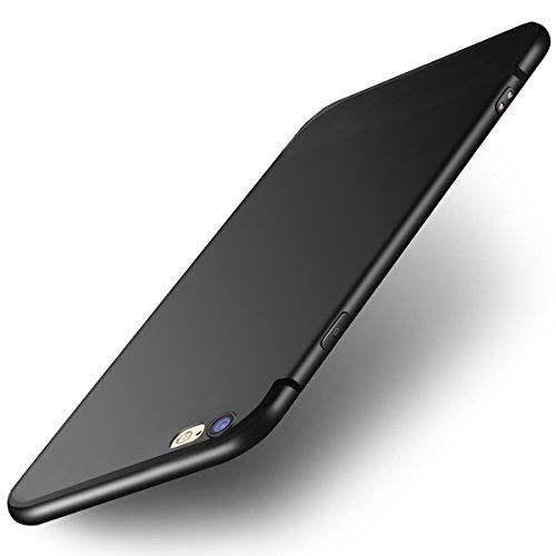 iPhone 6 handyhülle, iPhone 6S handyhülle, Ubegood Ultra dünn Soft Silikon Schutzhülle iPhone 6 Bumper Case Kratzfeste Soft TPU Case Anti Rutsch Silikon Hülle für iPhone 6S Case Cover- Schwarz