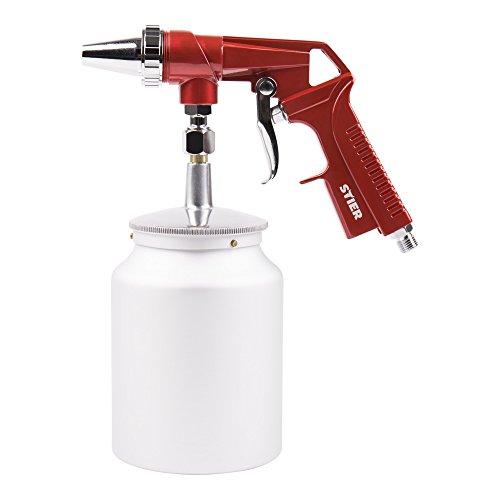 STIER Sandstrahlpistole | 5 - 10 bar | Düsendurchmesser 3,5 mm | Luftbedarf 120 l/min | Für Körnung 0,2 - 0,8 mm | perfekt zum Entfernen von Rost u. Farbe | Sandstrahlgerät | Sandstrahler