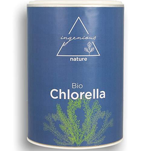 ingenious nature Bio Chlorella Presslinge - Zum Einführungspreis - 5 Monats Vorrat - gepresst aus reinem Chlorella Pulver, 500mg pro Tablette - 1000 Presslinge.
