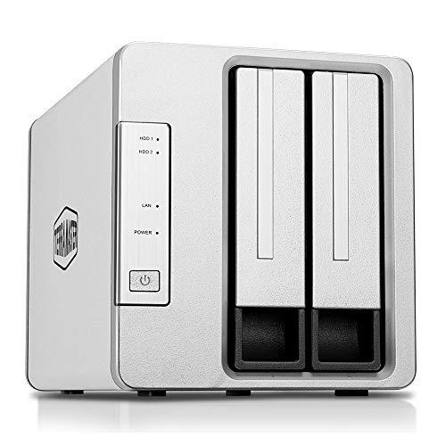 TerraMaster F2-210 2-Bay NAS Quad Core 4K Transcoding Media-Server für persönliche Cloud-Speicherung (ohne Festplatte)