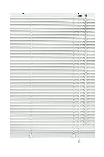 GARDINIA Alu-Jalousie, Sicht-, Licht- und Blendschutz, Wand- und Deckenmontage, Alle Montage-Teile inklusive, Aluminium-Jalousie, Weiß, 80 x 240 cm (BxH)