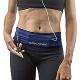 Laufgürtel & Fitnessgürtel, Flipgürtel mit Schlüsselclip, Passend für iPhone 6 & 7 Plus, Unisex, Für Training in Fitness-Club, Übungen, Radfahren (Mitternachtsblau, Large/34-37')