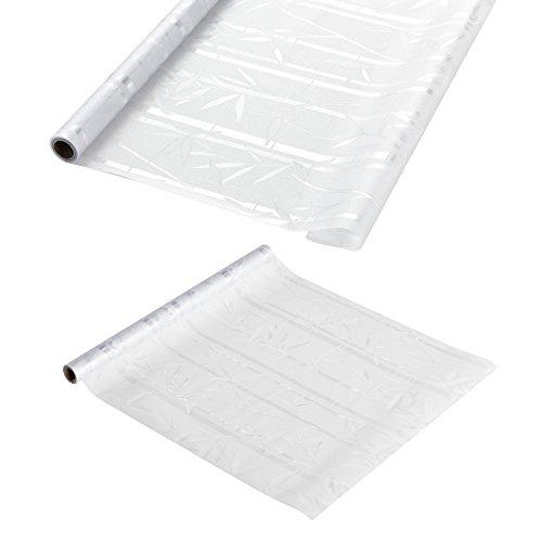 [casa.pro] Sichtschutzfolie für Fenster - Statisch haftend 1m x 2m - Als Sichtschutz fürs Bad Milchglas-Folie für die Tür oder als Fenster-Folie blickdicht & selbstklebend