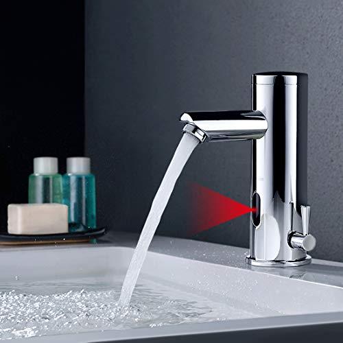 BONADE Infrarot Sensor Wasserhahn Bad Automatik Waschtischarmatur Badarmatur Armatur Waschbecken Mischbatterie Einhebelmischer für Badezimmer