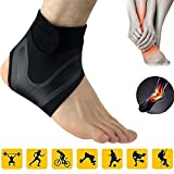 Surenhap Knöchelstütze Neoprenstütze Fußschutz Fußgelenkbandage Arthritis Verstauchungen für Laufen, Basketball, Fußball