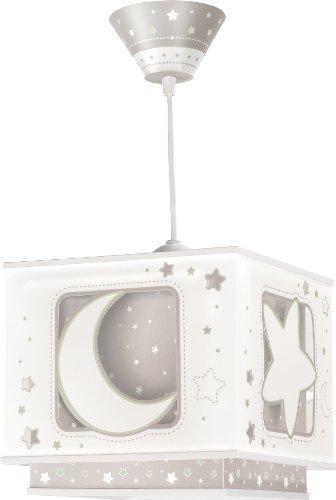Dalber Fluoreszierende Hängelampe Mond und Stern, Grau 63232E