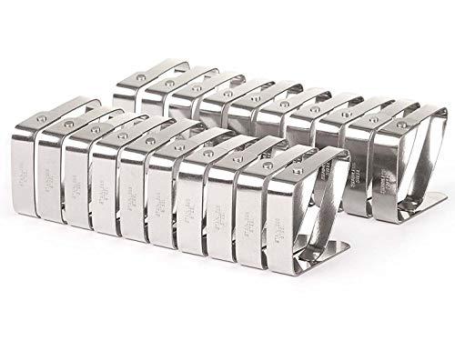Mlying Tischtuchklammern Set, 32 Stück, Edelstahl
