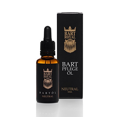 Bart Royal Bartpflege-Öl Geruchsneutral, ergiebiges, hochwertig-royales Luxus-Bartöl für weiche, geschmeidig-glatte Voll-Bärte / Drei-Tage-Bart, 30ml