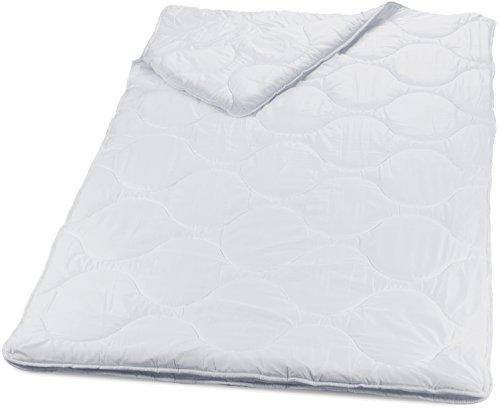 4-Jahreszeiten Bettdecke 135x200 cm mit Druckknöpfen für Sommer und Winter mit innovativer Hohlfaser-Füllung. Atmungsaktiv, Öko-Tex 100 zertifiziert und Allergiker geeignet. Plümo - PHD Primera