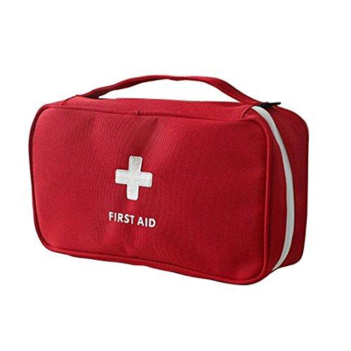 Tragbar leer Erste-Hilfe-Set Home Office leer Medical Tasche rot