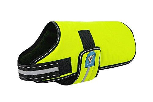 Knuffelwuff 13930-009 Hundemantel Funktionstextil reflektierend, neon gelb