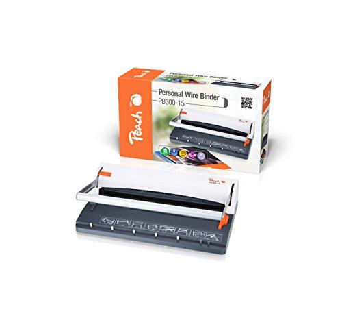 Peach PB300-15 Draht Bindemaschine   Personal Wire Binder Closer DIN-A4  bindet 60 Seiten   8 mm Binderücken   6 Blatt Stanzkapazität