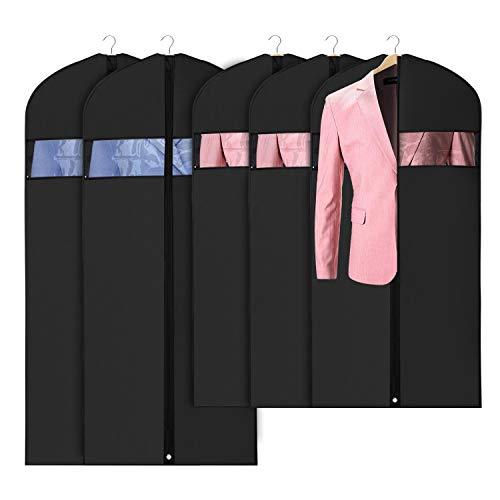 Oxford Stoff Kleidersack kleiderhülle Abdeckungen 109/137/152cm für Lagerung und Reise, Anti-Motten-Schutz, faltbar waschbar für langes Kleid Tanzkostüme Business Anzüge Kleider Mäntel