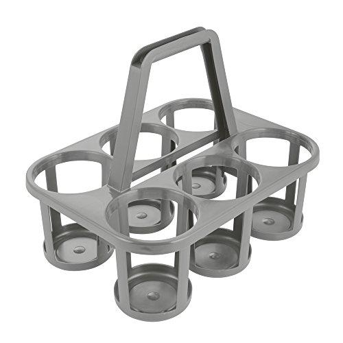 OK Flaschenträger, 6-fach, Polypropylen, Grau/Granit, 34 x 26 x 28 cm