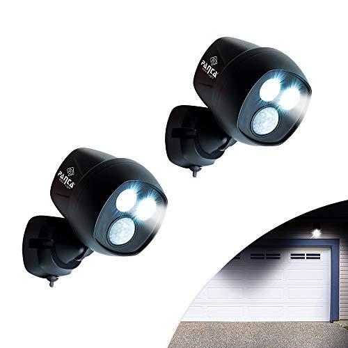 M MEDIASHOP Panta Safe Light 2 Stück Sicherheitslicht Klemmleuchte Spot Multifunktionslicht Bewegungssensor Lichtsensor kabellos für innen und außen | Das Original aus dem TV