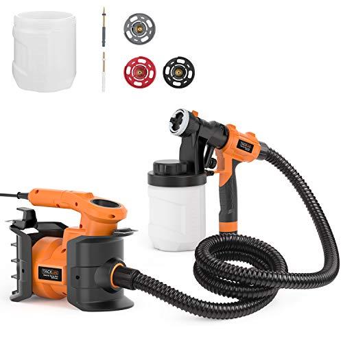 Tacklife Farbsprühsystem Professionelle Spritzpistole 230V, 800W, Max-Sprühfluss 1100 ml/min, 3 Düsengrößen, 3 Spritzmuster SGP16AC