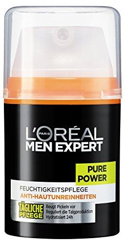 L'Oréal Men Expert Pure Power Feuchtigkeitscreme zur täglichen Gesichtspflege, 1er Pack (1 x 50 ml)