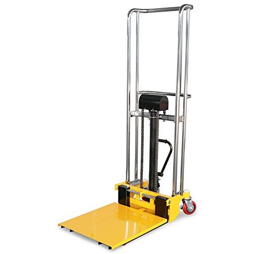 Fahrbarer Hubtisch mit Gabeln und Plattform 400 kg, 1,5 m Hubhöhe, 640 mm Gabellänge
