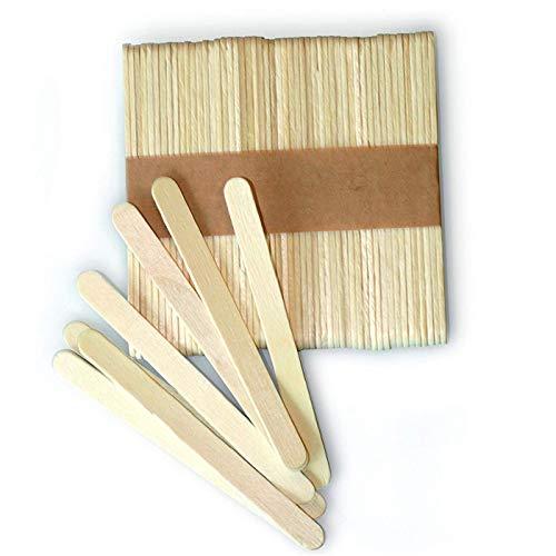 100Pcs Holz Ice Cream Sticks aus Holz Eisstielen Holzschl?ger Kinder Hand Crafts Kunst-Kuchen-Werkzeug DIY Fertigkeit-Sticks