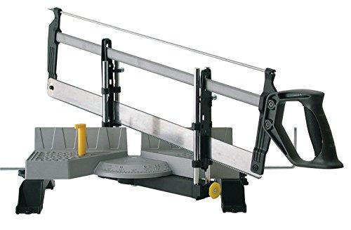 Stanley automatische Gehrungslade aus Metall mit Säge / Feinsäge mit Universalsägeblatt 13 Zähne/Zoll / 30, 45, 60 & 90° Winkel / 1-20-800