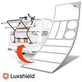 Luxshield Fahrradträger Heckträger Lackschutzfolie für Fahrradheckträger - Schutzpad Set - Transparente Selbstklebende Schutzfolie für alle PKW