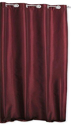 Thermo Übergardine ALEK mit Ösen Farbe & Größe wählbar - Eckig 140 x 245 cm Rot - Vorhang Gardine