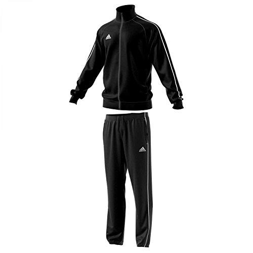 adidas Kinder Polyesteranzug Core 18 Black/White 152