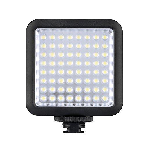 Godox LED64 Video Light 64 LED-Leuchten für DSLR Kamera Camcorder Mini DVR als Fill Light für Hochzeit News Interview Makrofotografie