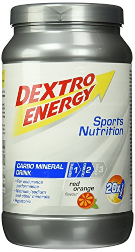 Dextro Energy IsoFast Red Orange / Hypotones Fitness-Getränkepulver mit Kohlenhydraten & Mineralstoffen für Ausdauersportler / 1 Dose (1120g)