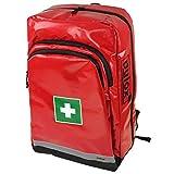 Pulox Erste Hilfe Rucksack, Notfallrucksack mit Modultaschen für den Notfall Einsatz Sport Freizeit Event Fussball (Rucksack Einzeln - Rot)