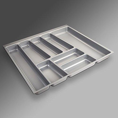 SO-TECH Besteckeinsatz ORGA-BOX II für Nobilia 60er Schublade (462 x 505 mm) silbergrau