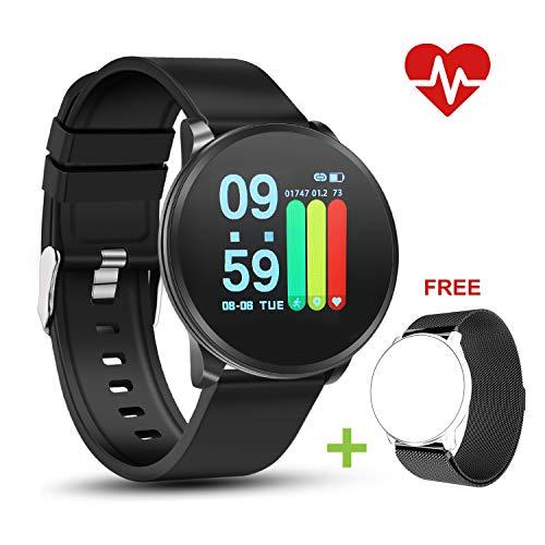 NEEKFOX Fitness Tracker, Aktivitätstracker mit Pulsmesser & Schlaf Tracking Wasserdicht IP67 Smart Watch Fitness Armband Uhr für Damen Herren Kinder