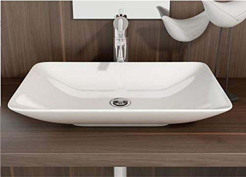 Art-of-Baan - Design Handwaschbecken Waschbecken Aufsatzwaschbecken Waschtisch Keramik 585 mm x 365 mm x 100 mm (Nova)