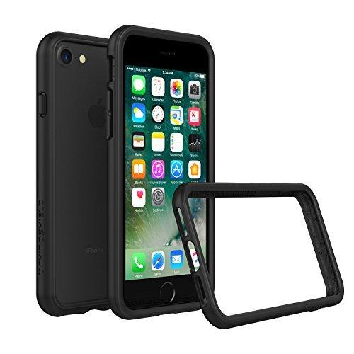 iPhone 8 Dünnes Bumper Case [Crashguard] Shock Absorbierend minimalistisches Design Schutzhülle [3,5 Meter Fallschutz] Kompatibel mit iPhone 7 - Schwarz