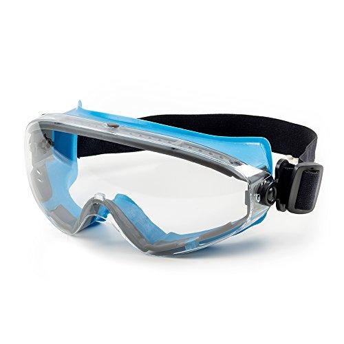 SolidWork Schutzbrille mit kratzfester Scheibe und Panoramablickfeld in Premiumqualität | Sicherheitsbrille mit perfektem Tragekomfort