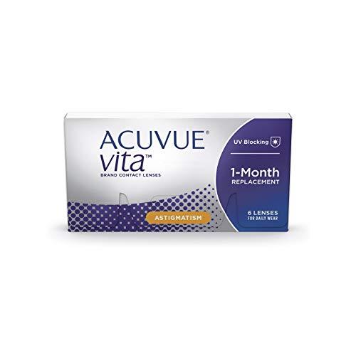 ACUVUE Kontaktlinsen Vita for Astigmatism Monatslinsen weich, 6 Stück / BC 8.6 mm / DIA 14.5 / CYL -1.75 / Achse 70 / 0.25 Dioptrien
