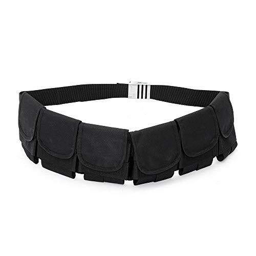 ZJY Justierbarer Sporttauchen-Gewichtsgurt - Schnellverschluss aus Edelstahl mit 6 Taschen Rechtzeitige Entwässerung - Ausrüstung - Geeignet zum Schnorcheln Schwimmen