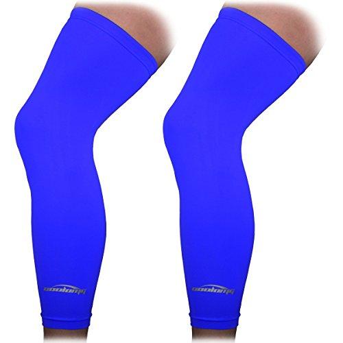 COOLOMG Beinlinge Knielinge Kompression Knieschutz Radsport Basketball Fußball UV Sonnenschutz Anti Rutschen für Herren Damen Kinder Jugend XXS-L (1 Paar)