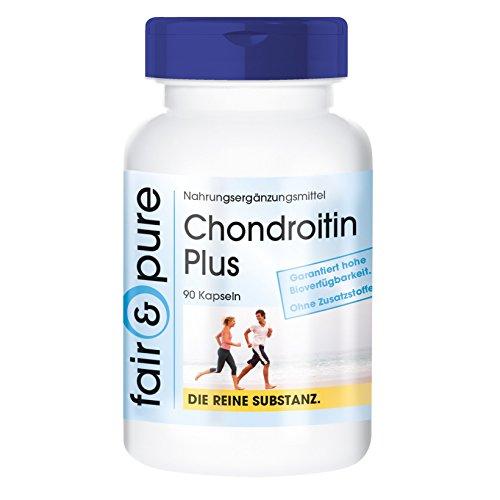 Chondroitin Plus mit Hyaluronsäure, Calcium, Vitamin D und E, ohne Magnesiumstearat, 90 Chondroitin-Kapseln