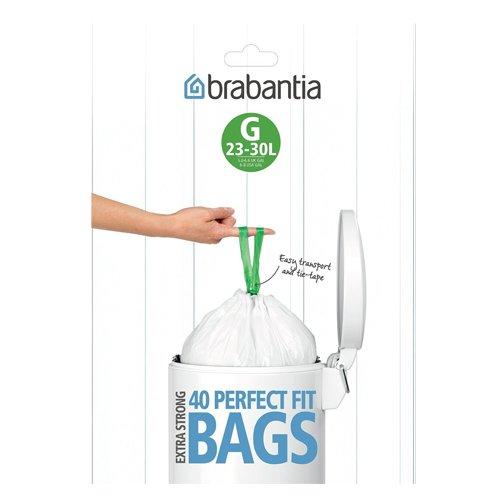 Brabantia Müllbeutel-Spenderpackung, 23-30 Liter, 40 Stück