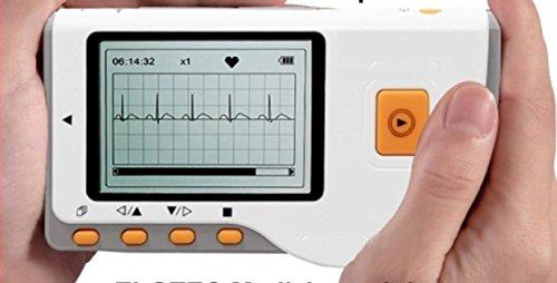 Tragbares EKG Mobiles Hand EK Gerät Deutsche Ausführungen - Vorhofflimmer - 30 Sek. oder Langzeit - mit neuester Analysesoftware