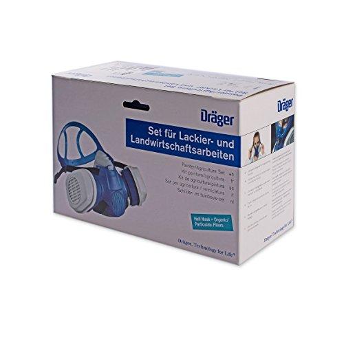 Dräger X-plore 3300 Lackierer-Set Farbspritz Halbmaske + A2P3 Filter