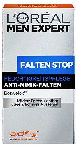 L'Oréal Men Expert Falten Stop Feuchtigkeitspflege, Anti Aging Creme für Männer, 1er Pack (1 x 50 ml)