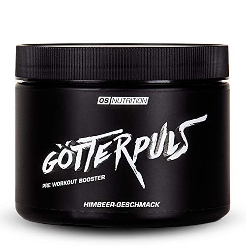Pre Workout Booster Götterpuls – OS NUTRITION Himbeere 308g – made in Germany