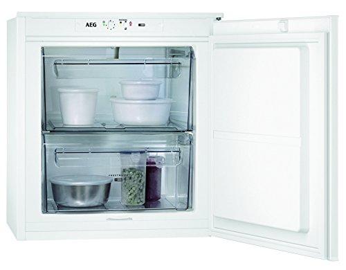 AEG ABB66011AS Einbau-Gefrierschrank / kleiner Tiefkühlschrank mit 47 Litern / Gefrierfach mit elektronischer Temperaturregelung und Temperaturalarm / Frostmatik-Technik für schnelles Einfrieren / A+ (165 kWh/Jahr) / Einbau-Höhe: 60 cm / weiß