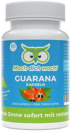 Guaranakapseln - Mach dich wach! - Qualität aus Deutschland - Ohne Zusatzstoffe!