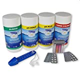 Paradies Pool GmbH Seerose Wasserpflege-Grundausstattungsset 4,5kg Chlor Algenschutz pH Minus/Plus Thermometer Wassertestgerät