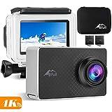 BFULL 2.45' Touchscreen 4K Action Cam, 20MP WiFi Action Ultra HD Sport Camera Unterwasser wasserdicht Camcorder 170° CMOS Sensor 2 bessere Batterien 1050Mah, Tragetasche und Befestigungszubehör